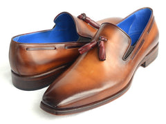Paul Parkman Men's Tassel Loafer - Walnut Leather