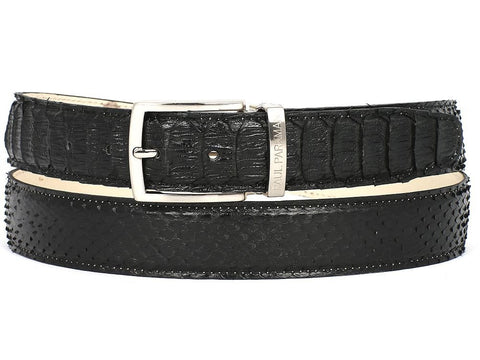 Paul Parkman Men's Black Genuine Python (snakeskin) Belt