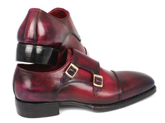 Paul Parkman Triple Leather Sole Hand-Welted Cap Toe Monkstrap Shoes