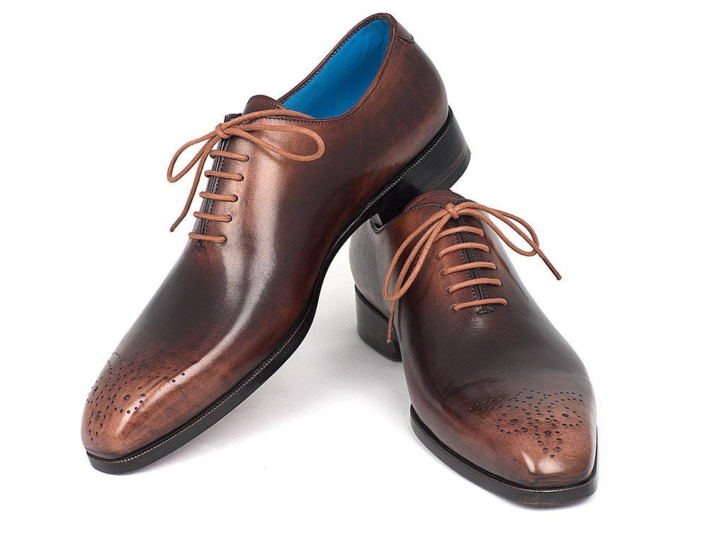 Paul Parkman Men's Camel & Brown Wholecut Oxfords