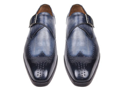 Paul Parkman Wingtip Single Monkstraps Navy