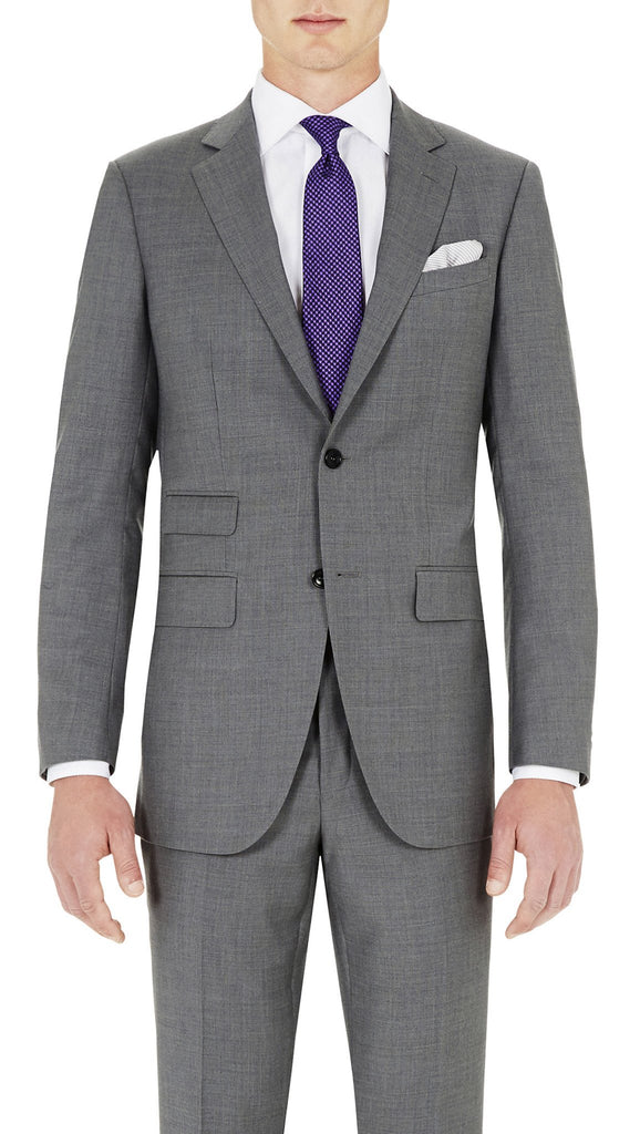 Grey - Super 130s, 100%  Wool