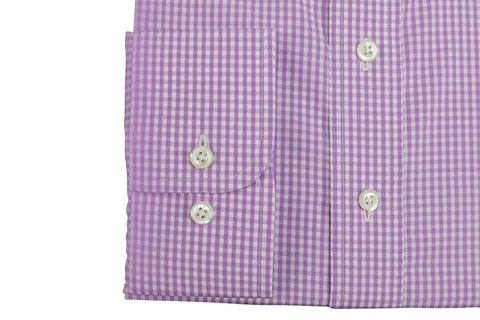 Purple Squares Custom Shirt Fabric - 100% Cotton