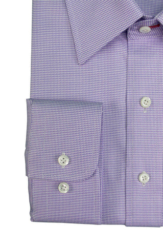 Purple Houndstooth Custom Shirt Fabric - 100% COTTON