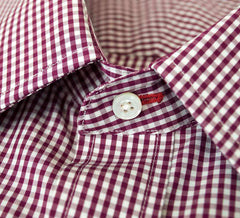 Burgundy Check - 100% Cotton
