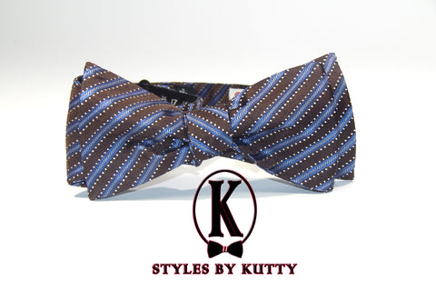 The Richard Son - 100% Silk Bow Tie (Self Tie)