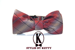 The Vineyard - 100% Silk Bow Tie (Self Tie)