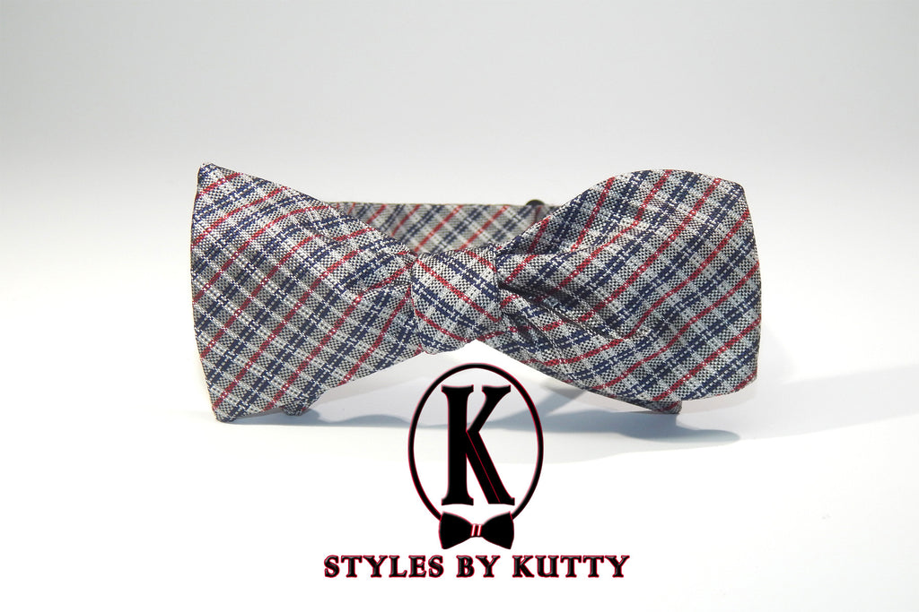 The Wedding Singer - 100% Silk Bow Tie (Self Tie)