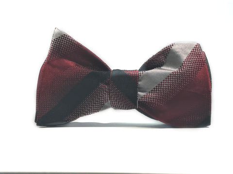 The Wine Cellar, 100% Silk Woven Bow Tie (Self Tie)