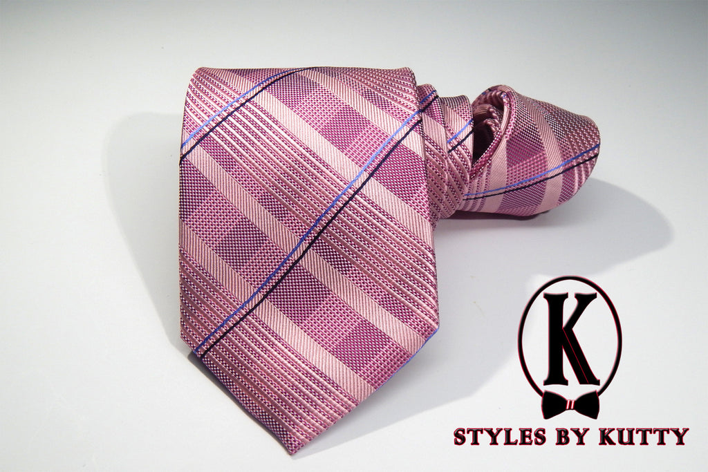 Tickled Pink - 100% Silk Woven Tie
