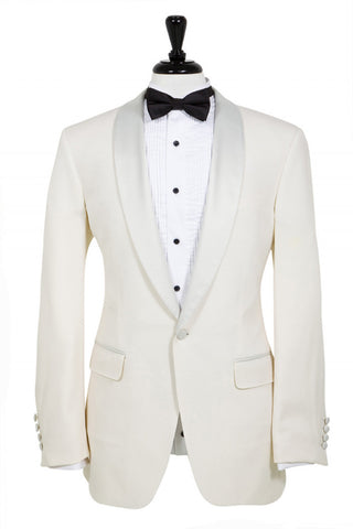 Ivory Dinner Jacket - Super 100s, 100% Wool