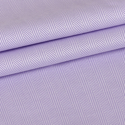 Purple Herringbone Custom Shirt Fabric - 100% Cotton