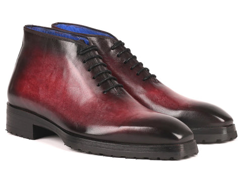 Paul Parkman Men's Bordeaux Leather Ankle Boots