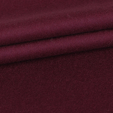 Custom Overcoat - Wine Colored