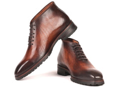Paul Parkman Men's Brown Leather Ankle Boots