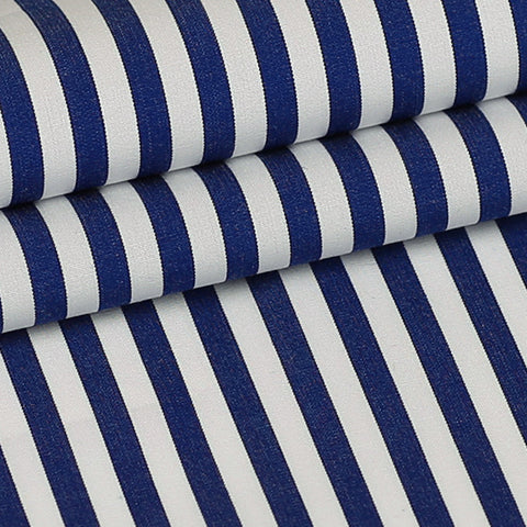Blue Stripes Custom Shirt Fabric - 100% Cotton