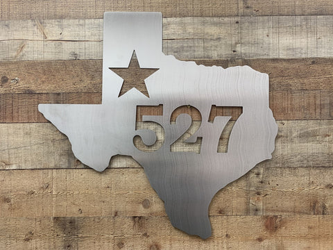 Custom Texas Address/ Name Sign