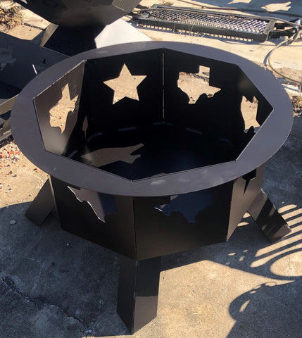 Texas Themed Octagon Fire Pit