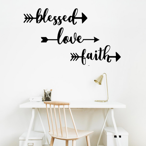 Love, Faith & Blessed - Three Piece Set