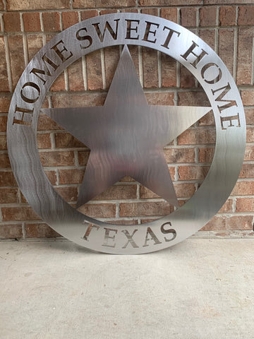 Home Sweet Home Texas Sign