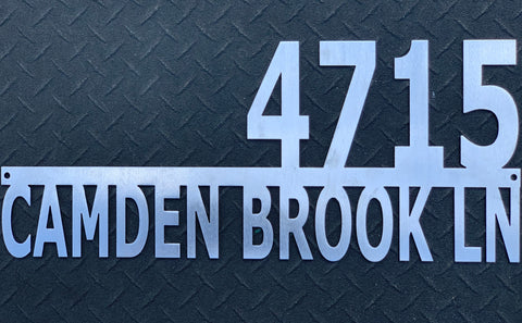 Two Line Address Sign