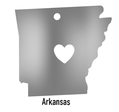Arkansas State Ornament