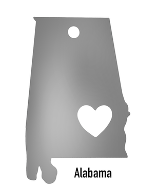 Alabama State Ornament