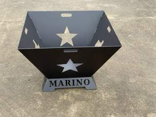 Texas Star Personalized Fire Pit