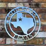 God Bless Texas Sign