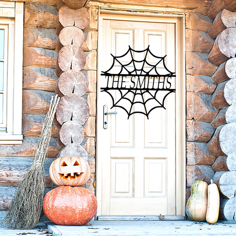 Halloween Spiderweb Monogram
