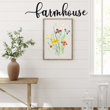 Farmhouse Script Sign