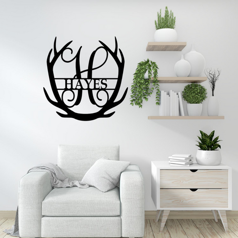 Fancy Antler Monogram