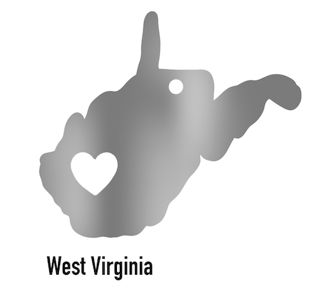 West Virginia State Ornament