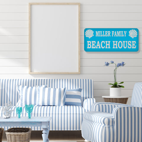 Family Beach House Sign