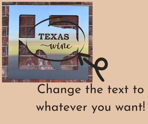Texas Wine Sign
