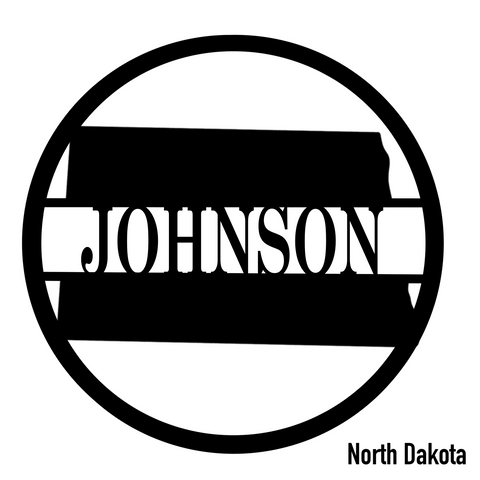 North Dakota State Monogram