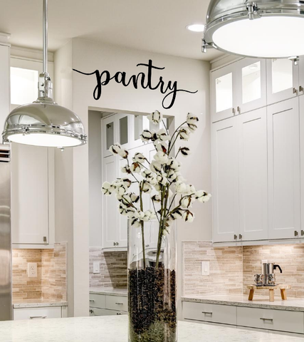 Pantry Script Sign