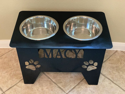 Custom Pet Bowl Stand