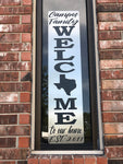 Texas Welcome Sign - Vertical