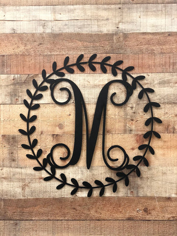 Wreath Monogram Letter
