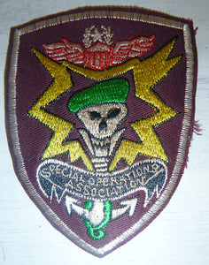 Patch - Newspaper Backed - US SPECIAL OPERATIONS - Green Berets - US SPECIAL FORCES - Special Operations Association - Vietnam War - MACV-SOG