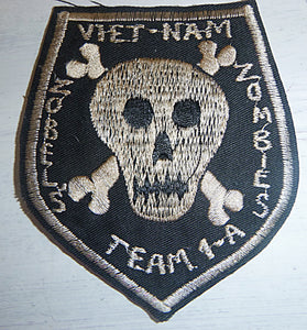 Patch - US SPECIAL FORCES - ZOBEL'S ZOMBIES - Plei Do Lim - Mike Force Base A-1 - Central Highlands - Vietnam War - Black Ops - Death Squad