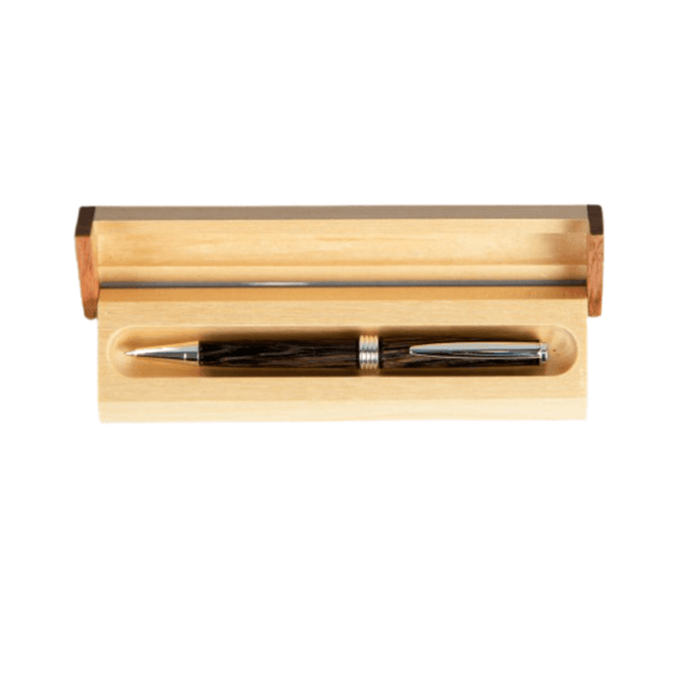 slim bog oak pen with presentation case