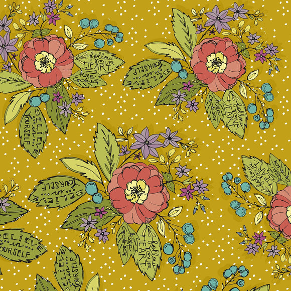 Bubbies Buttons and Blooms-Yellow Bouquet Floral