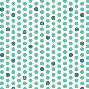 Bubbies Buttons and Blooms-Teal Button Dots