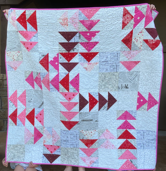 Red Geese Quilt Kit