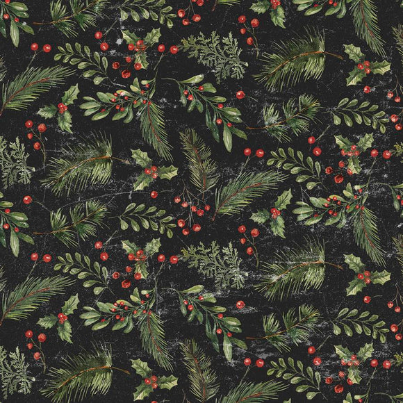 Yuletide - Festive Greens - Black
