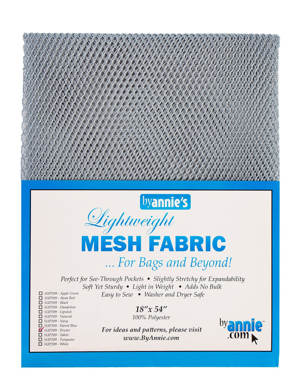 Lightweight Mesh Fabric Pewter 18x54in
