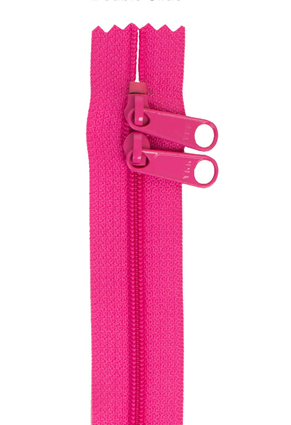 Handbag Zipper 30in Double-Slide - Raspberry