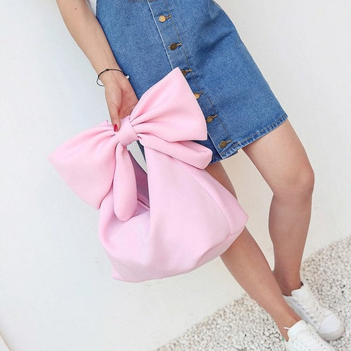 leather bags women Lovely Bowknot Space